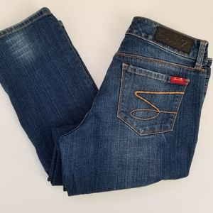 7 FAM Jeans Distressed Straight Size 10P